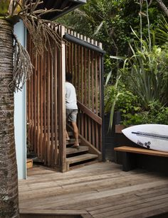 An unobtrusive Piha home makes the most of its small site in the bush by elevating the sleepout into the air. See inside this home here