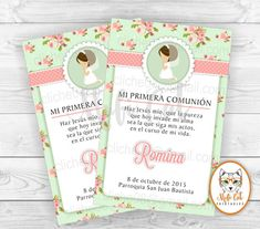 My first custom digital communion invitation. For communion or baptism girl. First Communion Party, Communion Invitations, Rsvp, Lily, Printables, Handmade Gifts, Baby Shower, Digital, Cards
