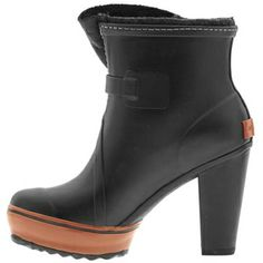 """Who doesn't want to look good in the rain? Be prepared with this well-heeled style. """"Medina"""" rain boots, Sorel, $200, sorel.com."""
