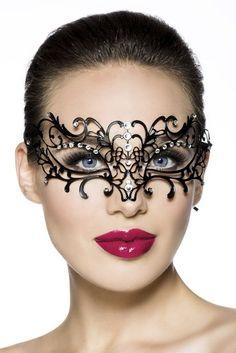 Arunta® Metal Mask Filigree Metal Venetian Masquerade Mask with Rhinestone: Amazon.co.uk: Toys & Games