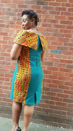 View details for the project Kente  cape dress1 on BurdaStyle.