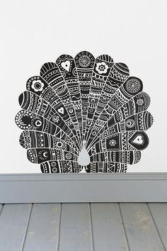 Blik Peacock Wall Decal #urbanoutfitters