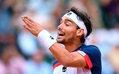 Descargar fondos de pantalla 4k, Fabio Fognin, pista de tenis, italiano, jugador de tenis, el partido, la ATP