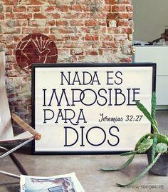 REDE MISSIONÁRIA: NADA ES IMPOSIBLE PARA DIOS! (JEREMIAS 32:27)