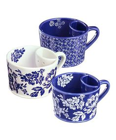 Take a look at the Blue & White Built-In Bag Holder Teacup Set on #zulily today!