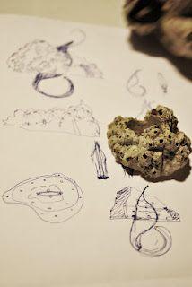 Design previous sketches for ring made out of picoroco shell. Casa Kiro Joyas