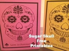 Free Sugar Skull Printable | Craft Dictator