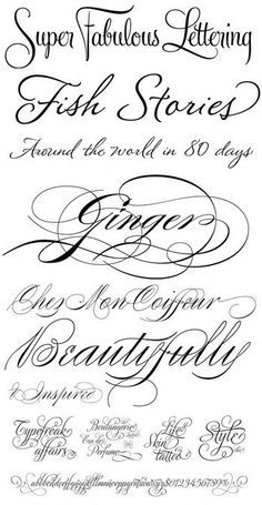 name tattoo fonts - Google Search