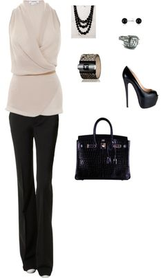 from work to cocktails after work, created by tnadeaumichelle on Polyvore