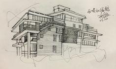 Sao Welfare Ilan Hall House Bridge Hall House, Facade House, Bridge, Paintings, Painting Art, Painting, Painted Canvas, Legs, Drawings