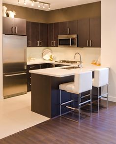 Gallery - MR Kitchen Cabinets Ottawa - MR Kitchen Cabinets Ottawa. What a great look for a smallish kitchen! Maybe for my basement kitchen area. http://www.mrkitchens.ca