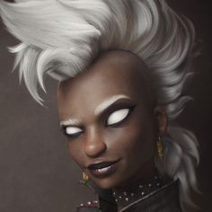 Personal project inspired on one of my favorites designs for Storm. Ororo Munroe, African Goddess, 3d Girl, Character Design, 3d Character, Character Ideas, 3d Artwork, Character Modeling, Victor Hugo