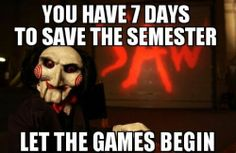 Life of a Student: Finals Week!!