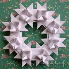 Free Craft Instructions - How to Make a German Paper Star (Froebel ...