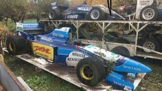 There are barn finds, and then there's this: a historic Formula One heaven Old Race Cars, Old Cars, Corsica, Benetton, Automobile, Car Barn, Rusty Cars, Abandoned Cars, Abandoned Vehicles