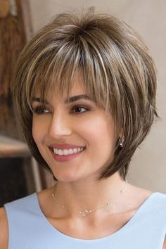 Reese PM by Noriko Wigs - Partial Monofilament Wig. Love the cut for short hair. Reese PM by Noriko Wigs - Partial Monofilament Wig. Love the cut for short hair. Latest Short Hairstyles, Layered Bob Hairstyles, Hairstyles Over 50, Cool Hairstyles, Gorgeous Hairstyles, Hairstyle Ideas, Hairstyles Haircuts, Trending Hairstyles, Short Hairstyles For Thin Hair