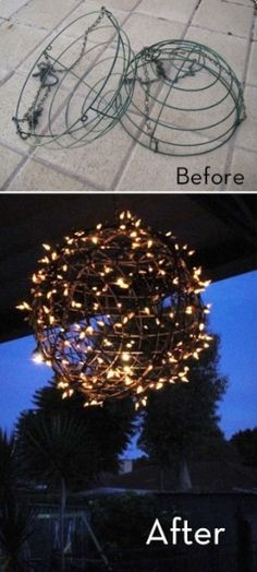 Ideas for lights indoor or outdoor Quick and easy!