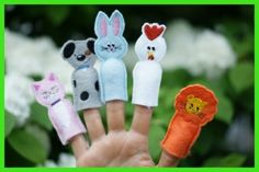 In The Hoop Finger Puppet Animals Five Pack for Embroidery Machines