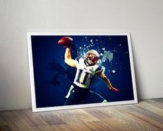 Julian Edelman New England Patriots Poster by TroutLifeStudio