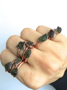 Hey, I found this really awesome Etsy listing at https://www.etsy.com/listing/228721009/moldavite-ring-raw-moldavite-stacking