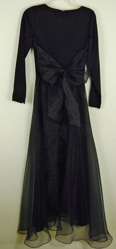 Geary Roark XS S Retro Cocktail Dress Black Organza Mid-calf Party Small Prom #GearyRoark #FitFlare #Cocktail