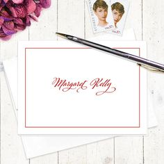 personalized note card stationery set  CLASSIC by naomilynn