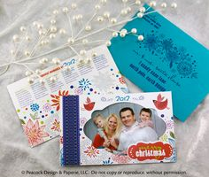 Christmas Card With Photo, Family Christmas Card, Printed Envelopes,  Specialty, Custom,
