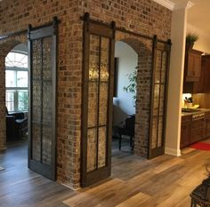 Home Remodeling Rustic Beautiful Glass Barn Doors Glass Barn Doors, Wood Doors, Pine Doors, Tuscan Design, Tuscan Decorating, Mediterranean Homes, Tuscan Homes, Mediterranean Architecture, Classical Architecture