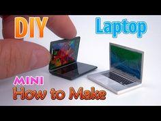 DIY Realistic Miniature Laptop | DollHouse | No Polymer Clay! - YouTube