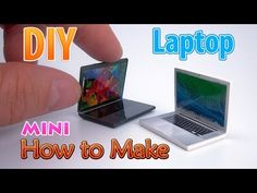 (2) DIY Realistic Miniature Laptop | DollHouse | No Polymer Clay! - YouTube