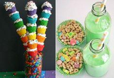 Rainbow Mini-Cupcake Towers ~ love these!