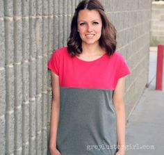 This is one of the easiest shirt refashions that I have ever done. It is a great beginner refashion project and it comes together in one afternoon. To make a color block shirt refashion, you first need to get two colors of shirts that will coordinate well. I started with 2 shirts that were less …