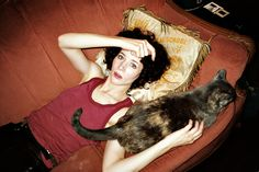 i was surprised to find two of my favourites, Miranda July and Shannyn Sossamon, photographed by the same photographer, RJ Shaughnessy . Shannyn Sossamon, Celebrities With Cats, Miranda July, When I Dream, Embedded Image Permalink, Beautiful People, Crushes, Creatures, Pets