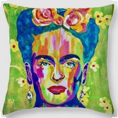 Voici ce que je viens d'ajouter dans ma boutique #etsy: Frida KAHLO Pillow-Cushion,Cushion Cover,Cushion Panel,Cushion Art Design,Pillow Decor,Guest Room Decor,Perfect Special Gift,Home Pillow #articlespourlamaison #coussin #carre #coton #coussinethousses #polyester #salledebains #abstrait