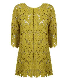 Look at this Darling Chartreuse Fleur Coat on #zulily today!