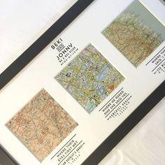 map art met engaged married | homepage > BASIL & FORD > PERSONALISED MAP WEDDING ART