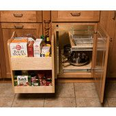 Corner Organizers - Shop for Blind Corner Kitchen Cabinet Optimizers and Corner Units in heavy-duty chrome.