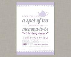 Tea Party Invitation / Baby Shower Invitation / Bridal Shower Invitation. $14.50, via Etsy.