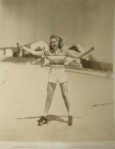 The first patented roller skate was introduced in 1760 by Belgian inventor John Joseph Merlin. His roller skate wasn't much more than an ice. Roller Rink, Roller Disco, Roller Derby, Roller Skating, Rollers, Skate Girl, Burn Out, Skating Rink, Figure Skating