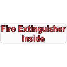 """10""""x3"""" Fire Extinguisher Inside Sign Decals Sticker Stickers"""