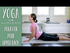 Simple yoga for upper back pain. In the sequence Adriene takes you through an all levels yoga sequence that will create space and provide relief for upper back pain. Great for those who have tight neck and shoulders and great for anyone looking to improve their posture. Take time to stretch this area of the body if you work at a computer, play an instrument or carry a small child around all day!