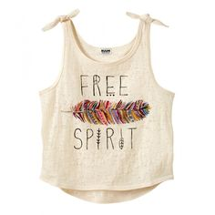 Tie Shoulder Tank- need to make this! love the print! Girls Fashion Clothes, Teen Fashion Outfits, Kids Fashion, Emo Fashion, Cute Outfits For Kids, Cute Casual Outfits, Crop Shirt, T Shirt, Crop Tank