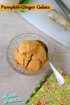 Pumpkin Ginger Gelato (maybe omit the sugar)