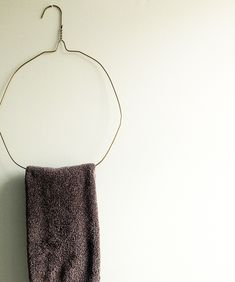 Turn hangers into towel racks!