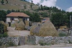 A traditional village house in the Balkans