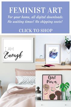 Looking for feminist art to go in your home? These feminist quotes are the perfect addition to your feminine decor. They are instant downloads so you can print them straight away, no having to go out to shops, no waiting times, no shipping costs! Awesome!! Click through to shop and find more girl boss quotes, inspirational quotes and feminism art #feministart #feministquotes #femininedecor #instantdownload #girlbossquotes Printable Planner, Printable Wall Art, Printables, Feminist Quotes, Feminist Art, Feminine Decor, Girl Boss Quotes, Inspirational Wall Art, Girl Power