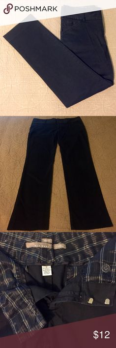 "Old Navy Stretch Dress Pants Black Old Navy stretch dress pants.  Waist: 17.5"", Inseam: 31"", Leg opening: 7"".  2 Front pockets, 2 Back pockets.  Zipper, button, 2 clasp close, wide belt loops.  The button is a little loose.  Excellent condition otherwise. Old Navy Pants Trousers"