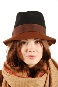 Bi-Color Felt Hat