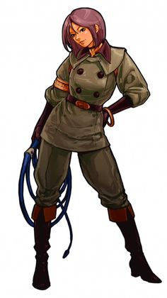 View an image titled 'Whip Art' in our The King of Fighters XI art gallery featuring official character designs, concept art, and promo pictures. Female Character Design, Character Design Inspiration, Character Art, Art Of Fighting, Fighting Games, Snk King Of Fighters, Arte Peculiar, Street Fights, Female Fighter