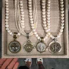 Get her that classic piece she& wear for decades to come. Last day (with expedited shipping) to get your mom wh… Coin Jewelry, Pearl Jewelry, Beaded Jewelry, Silver Jewelry, Vintage Jewelry, Jewelry Necklaces, Unique Jewelry, Jewellery, Jewelry Trends
